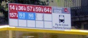 Bus Barcelona Haltestelle Tipp