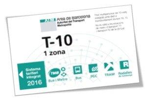 T-10 Fahrschein 10er Ticket