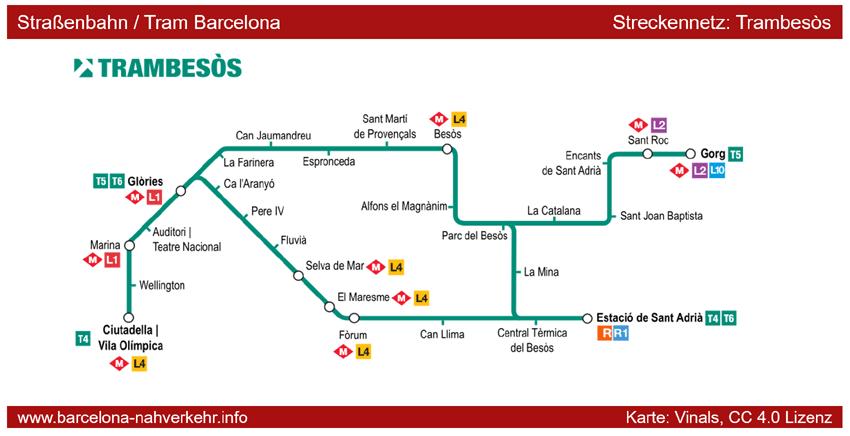 Trambesos Linien Straßenbahn Tram Plan