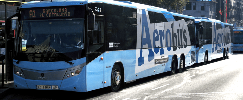 Hola Barcelona Aerobus Flughafen Shuttlebus